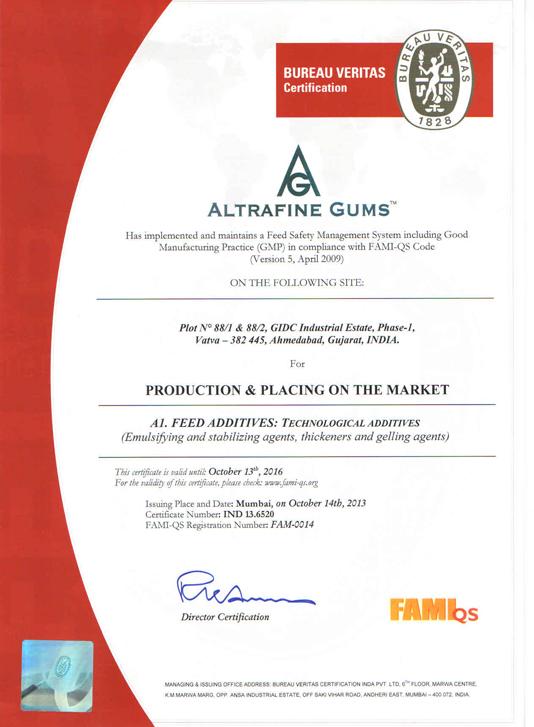 FAMI QS certified guar gum