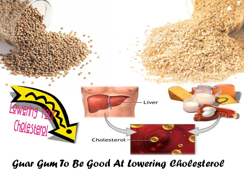 guar gum to be good at lowering cholesterol