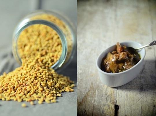 Reactive Response of Gum powder of fenugreek Seeds in pickle Preparation